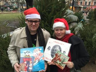 Fredrik af Trampe och Anna-Lena Lodenius gör julradio